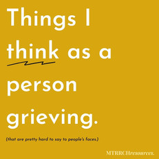 Things I think as a person grieving