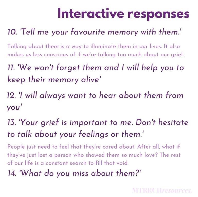 Interactive responses