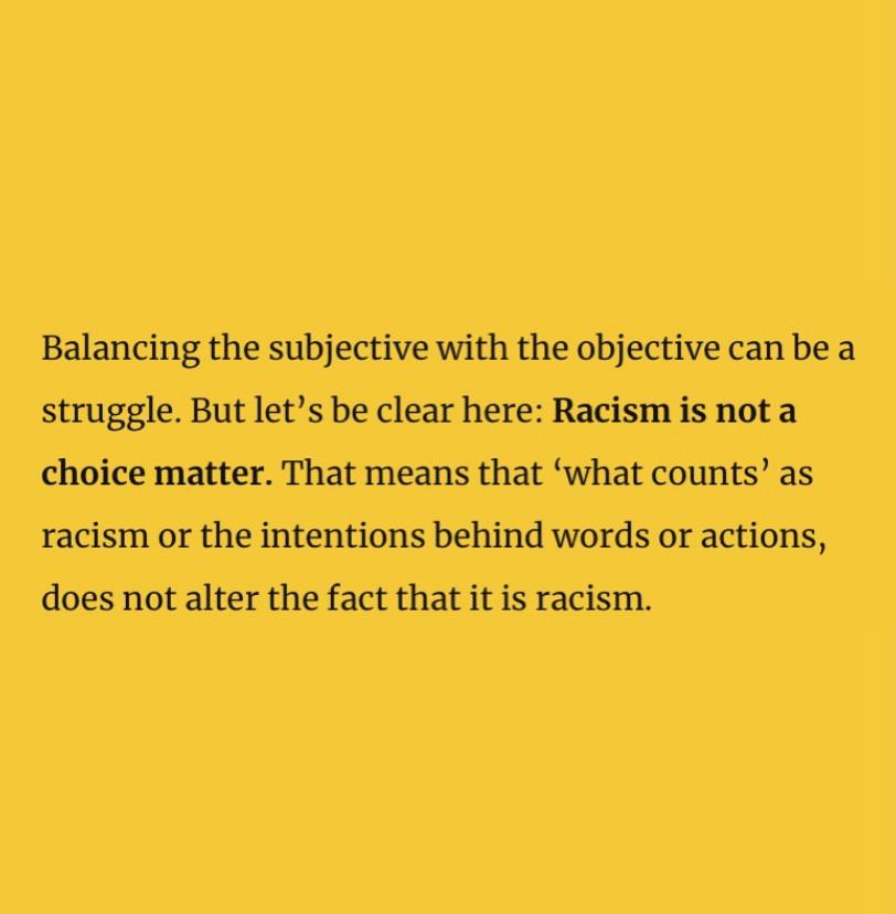 Racism is not a choice matter