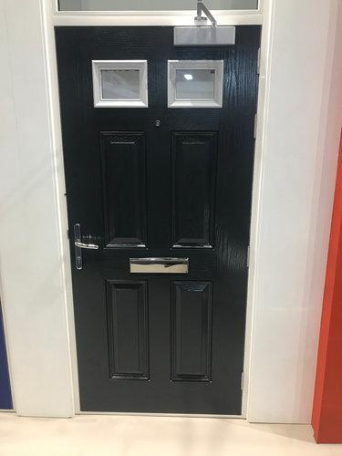 Glazed Composite Fire Door with Fanlight