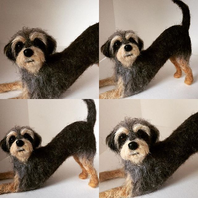 Needle Felted Dog - Jo Gardiner Art