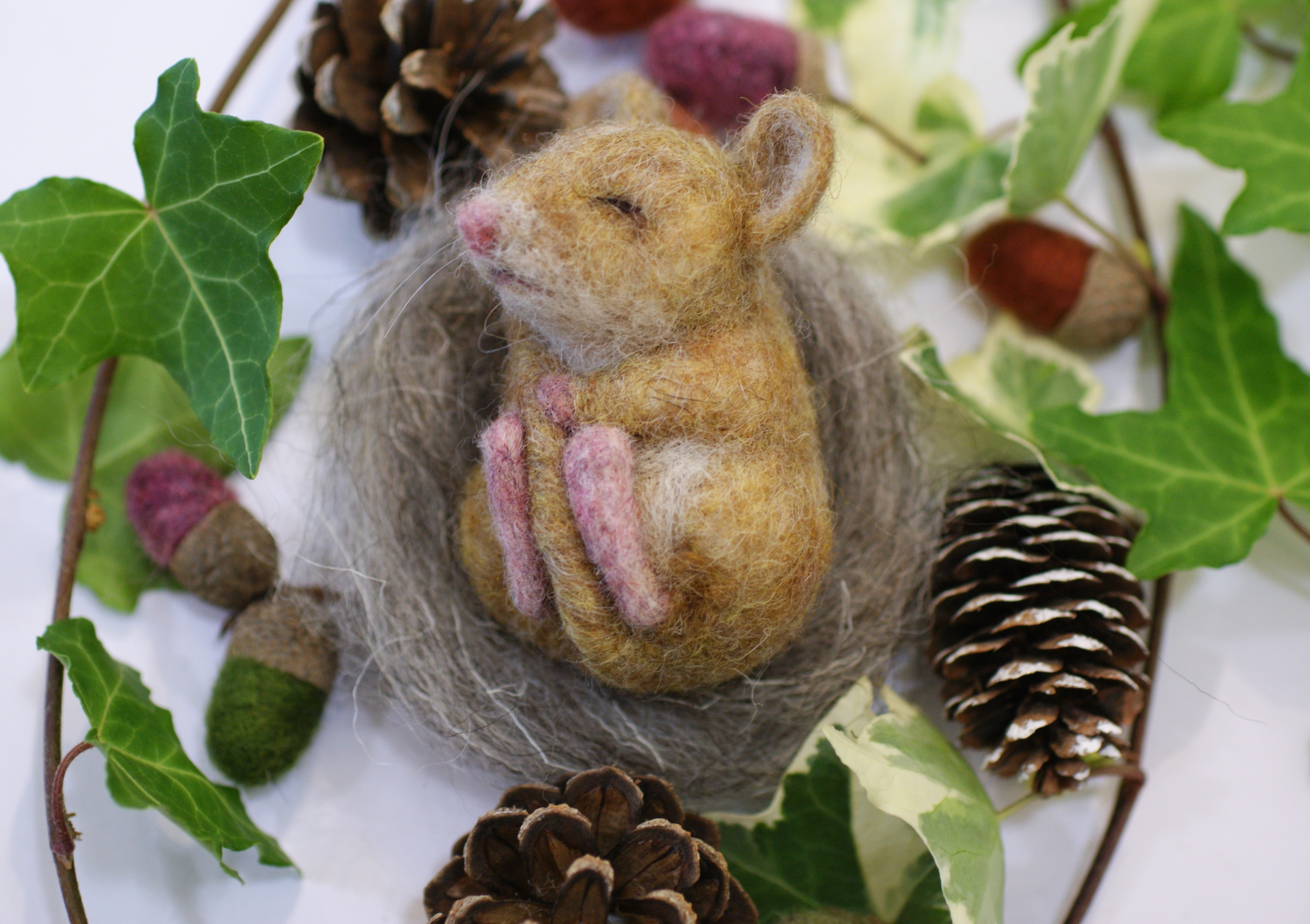 Felted dormouse  Jo Gardiner Art