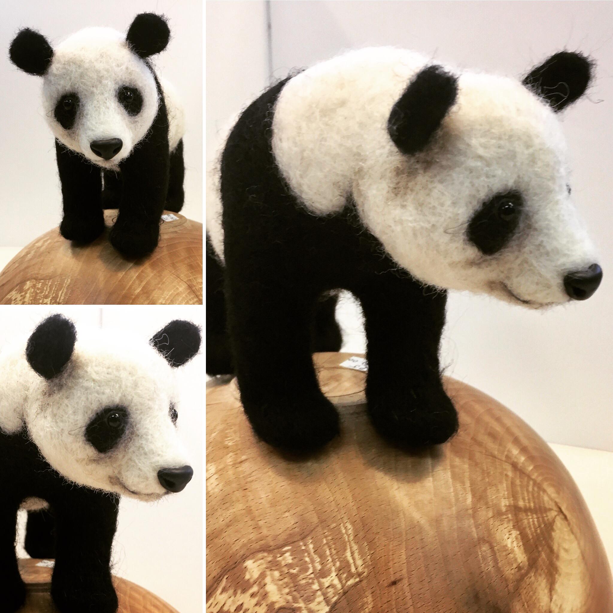 Needle felted Panda - Jo Gardiner Art
