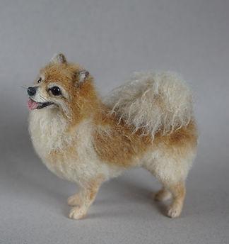 Needle Felted Pomeranian 6 - Jo Gardiner