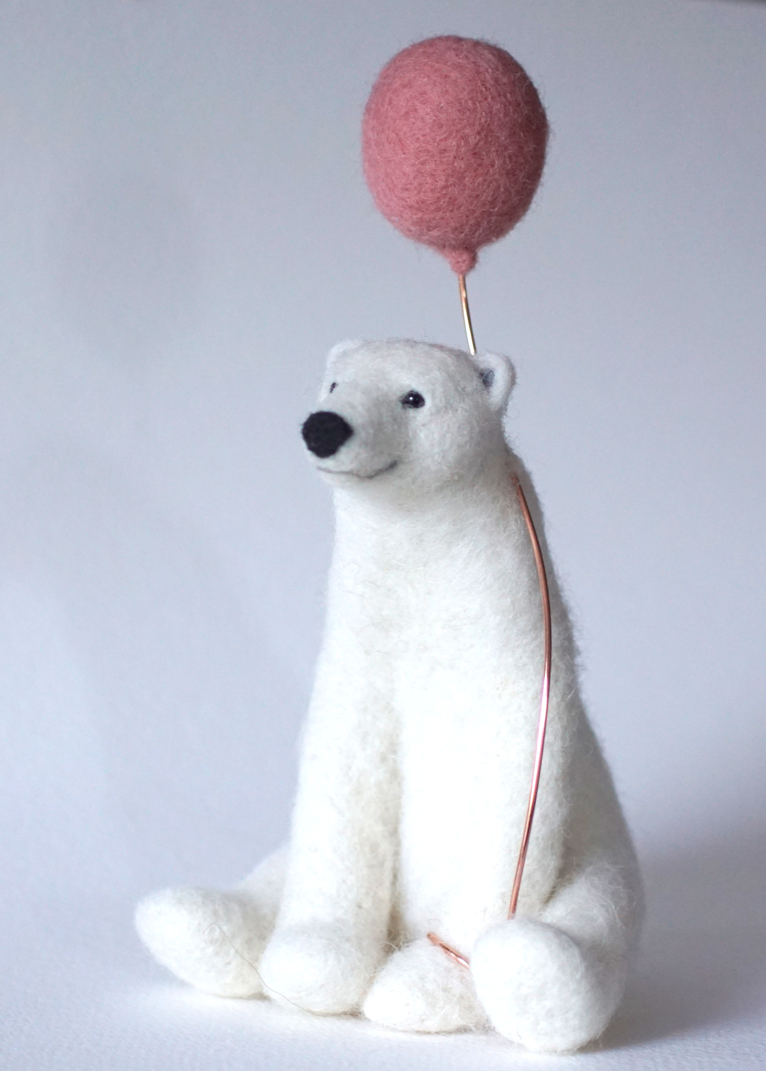 NeedleFelted Polar Bear- Jo Gardiner