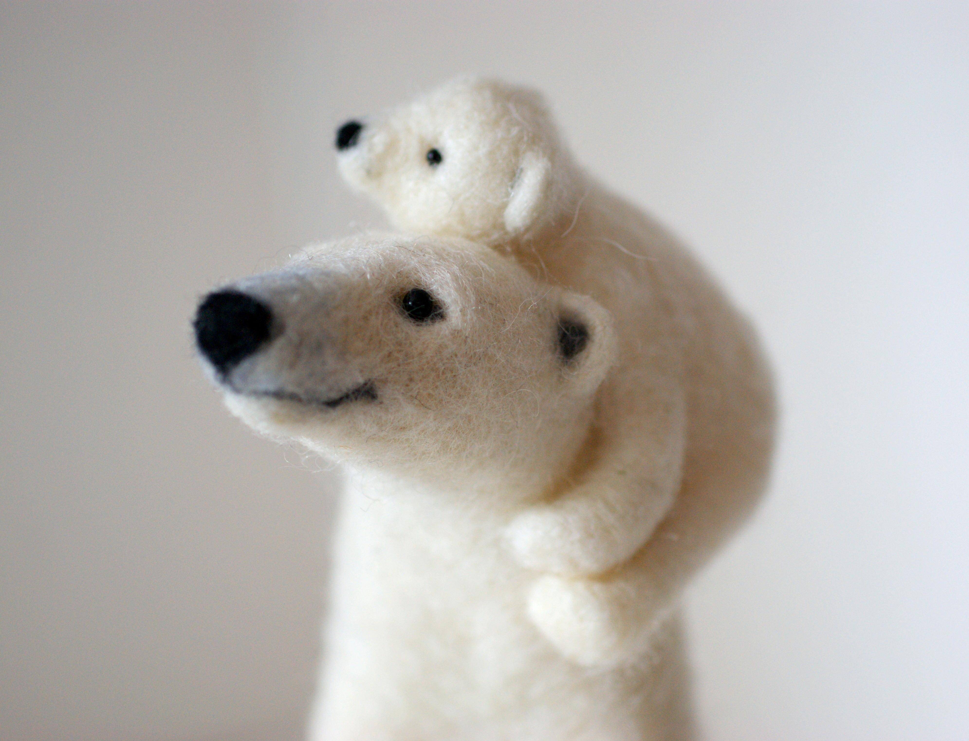 Felted Polar Bears