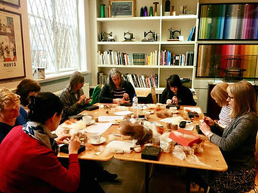 Felting Workshop at the Silk Museum - pre covid image