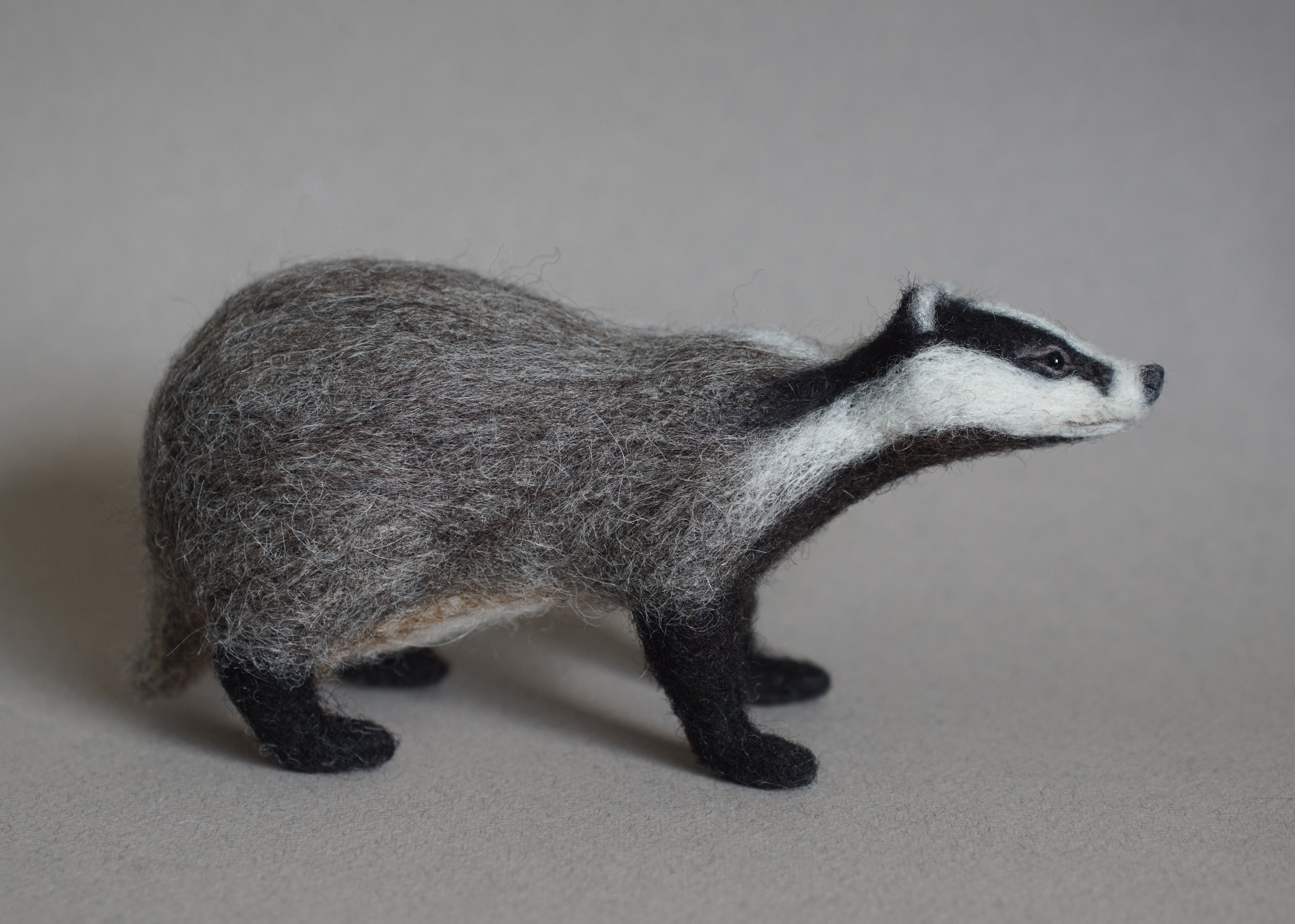 Needle Felted Badger - Jo Gardiner Art