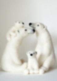 felted polar bear family Jo Gardiner jpg