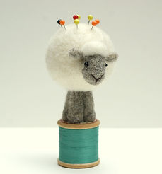 sheep pin cushion Jo Gardiner
