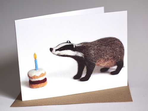 'Badger's Birthday' Greeting Card