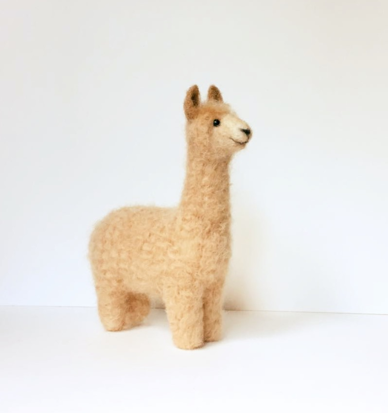 Needle felted Llama - Jo Gardiner_edited