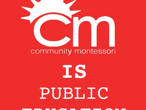 Community Montessori is Public Education