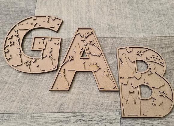 15cm Princess Themed Letters