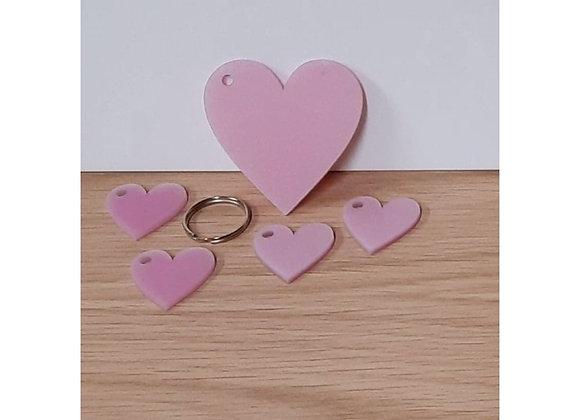 Hearts Keyring