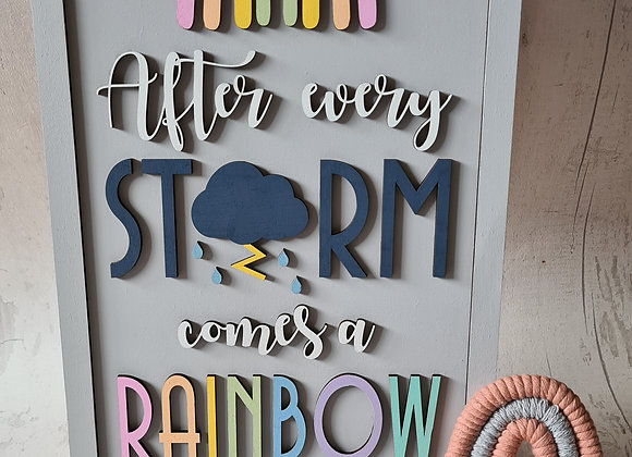 After Every Storm A4 Sign