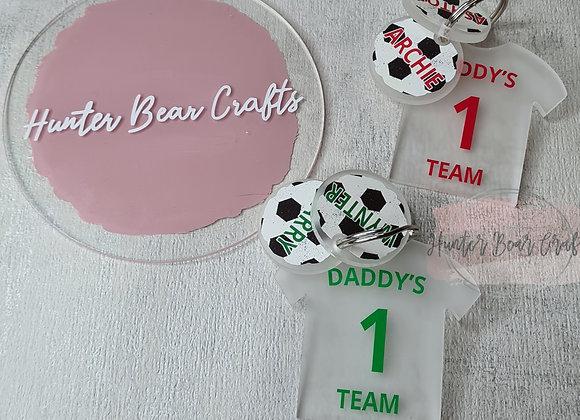 Daddy's Team Keyring