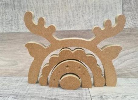 Funky Reindeer Stacker