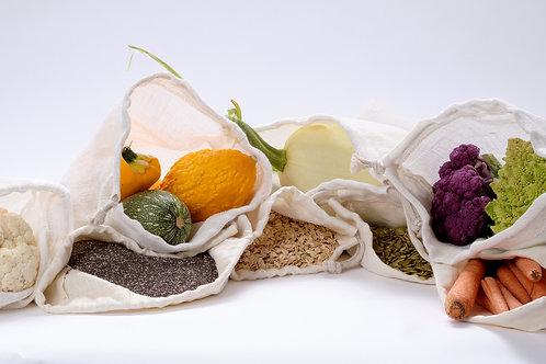 Hemp Mesh Produce bags: Set of 3
