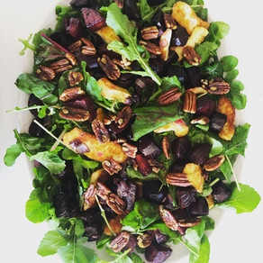 Roasted Beetroot and Pecan Salad