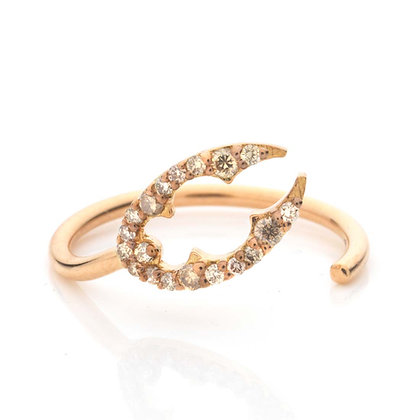 GOLD LOBSTER CLAW MIDI RING