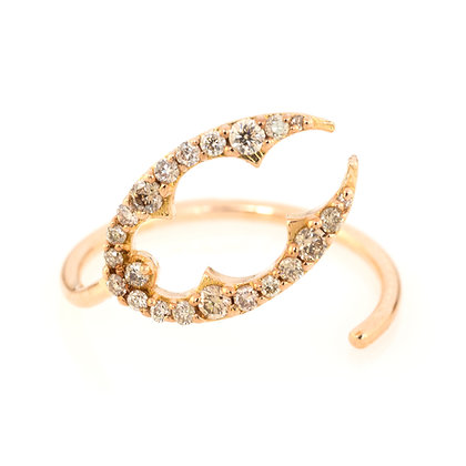 GOLD LOBSTER CLAW RING