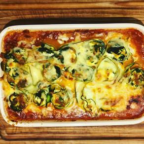 Zucchini Cannelloni with Ricotta & Spinach