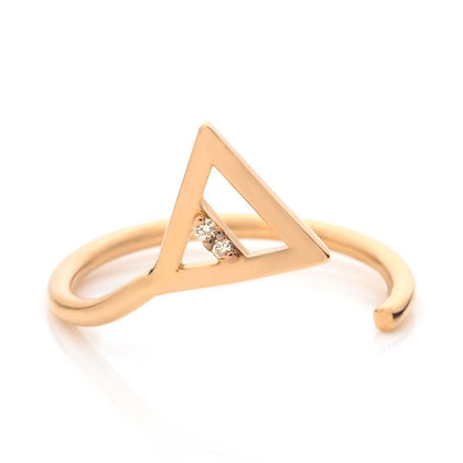 GOLD TOA FIRE MIDI RING