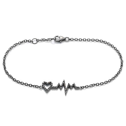 BLACK PULSE CHAIN BRACELET