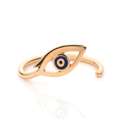 GOLD EVIL EYE MIDI RING