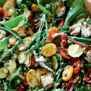 Tahini-Dressed Courgette & Green Bean Salad