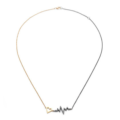 TWO TONE PULSE NECKLACE