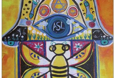 Bee Hamsa notecard