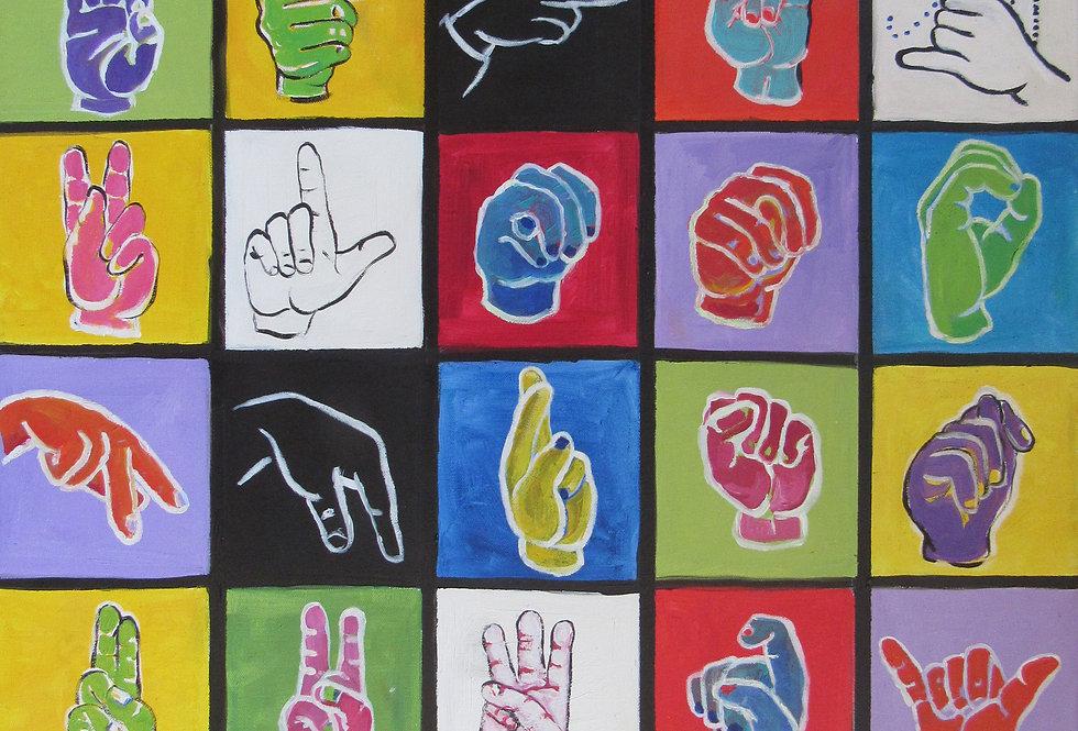 One Hand Alphabet