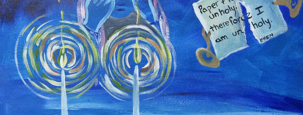 series of 4 Jewish DeVIA artworks
