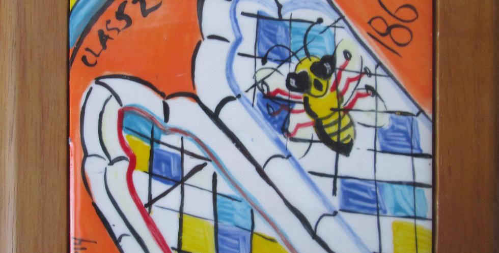 2-11-14  Bee @ Chapel Window