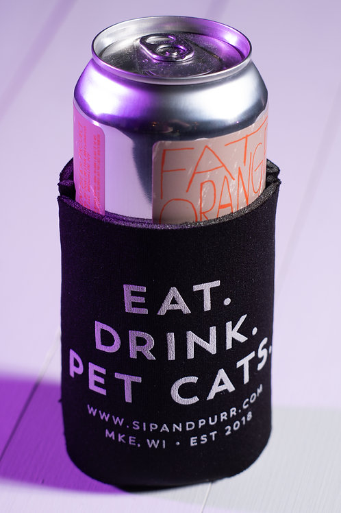 Sip & Purr Can Koozie