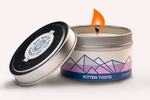 "Big White Yeti ""Kitten Toots"" Aromatic Candle"