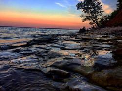 Закат берег