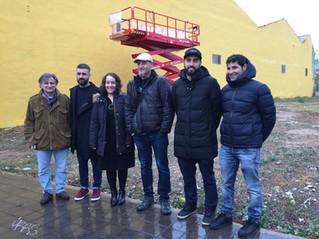La Ciudad Fallera lucirá un mural de arte urbano de 600 metros cuadrados
