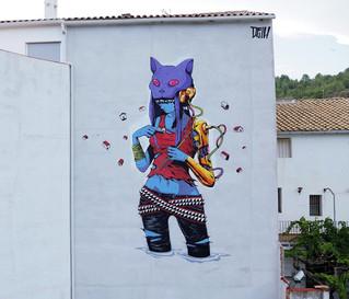 Deih creates a new piece in Fanzara, Spain