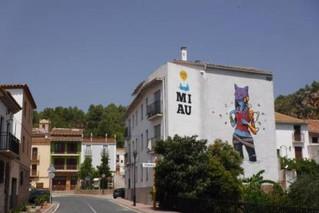 Fanzara se ha convertido en el MIAU, el Museo Inacabado de Arte Urbano