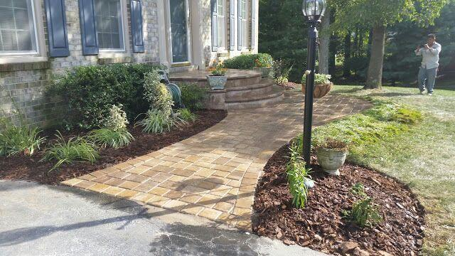 Bowie Front Paver Porch and Walkway