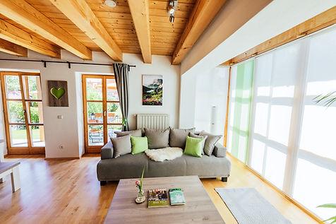 Wohnzimmer Ferienwohnung Isarufer