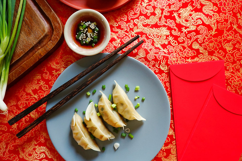 Chinese Lunar New Year lucky food steame