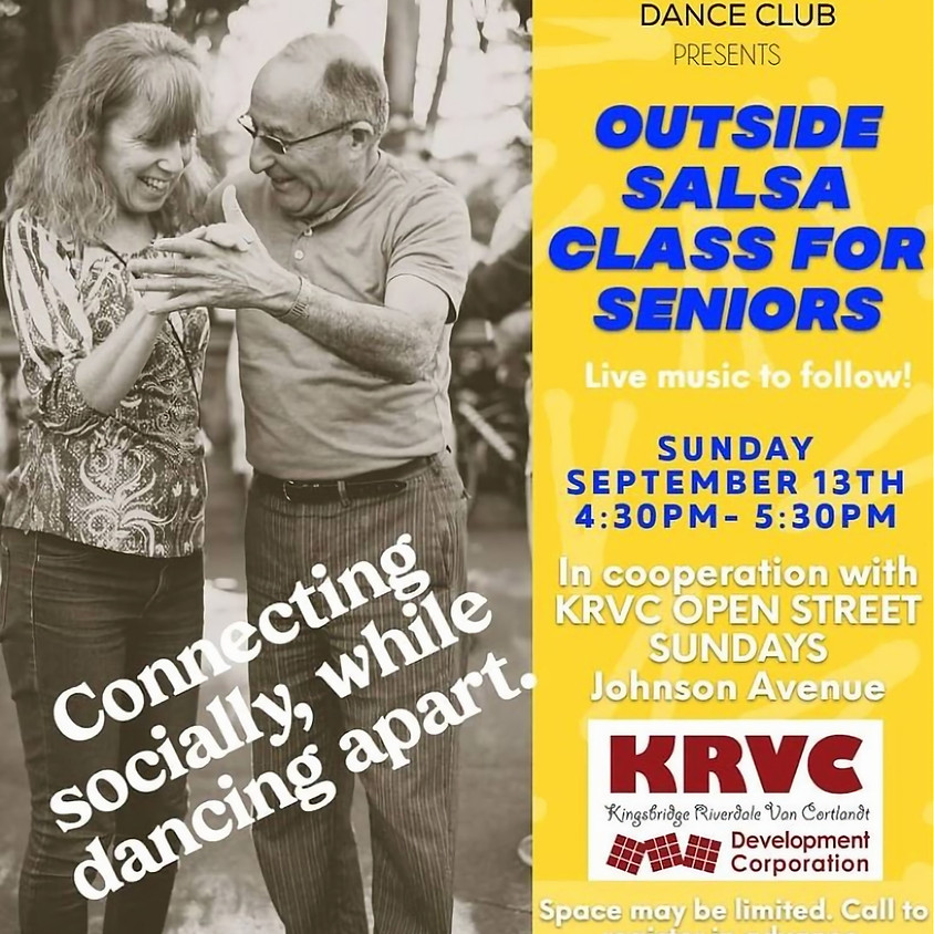 OUTSIDE SALSA CLASS FOR SENIORS (Past Event)