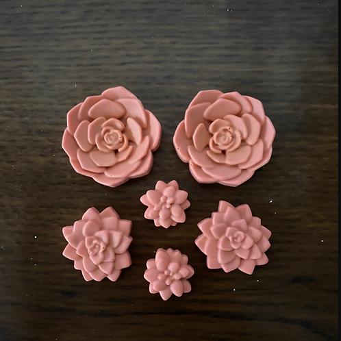Flower Mini Succulent Soaps
