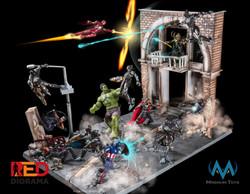 Battle diorama