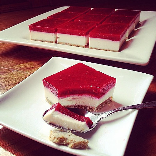 Real Raspberry Jelly Slice