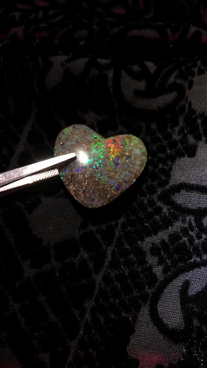 Heart Shaped Louisiana Opal
